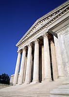 The exterior of the United States Supreme Court building. Washington, DC.