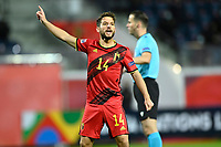 15th November 2020; Leuven, Belgium;  Dries Mertens forward of Belgium issues instructions to his teammates during the UEFA Nations League match group stage final tournament - League A - Group 2 between Belgium and England