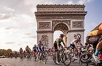 Jack Bauer (NZL/Mitchelton-Scott)<br /> finish laps around the Champs-Élysées<br /> <br /> Stage 21 from Mantes-la-Jolie to Paris (122km)<br /> <br /> 107th Tour de France 2020 (2.UWT)<br /> (the 'postponed edition' held in september)<br /> <br /> ©kramon