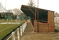 Fenland Park, home of Wisbech Town Football Club (Cambridgeshire), pictured circa 1987 - Gavin Ellis/TGSPHOTO - Self billing applies where appropriate - 0845 094 6026 - contact@tgsphoto.co.uk - NO UNPAID USE.