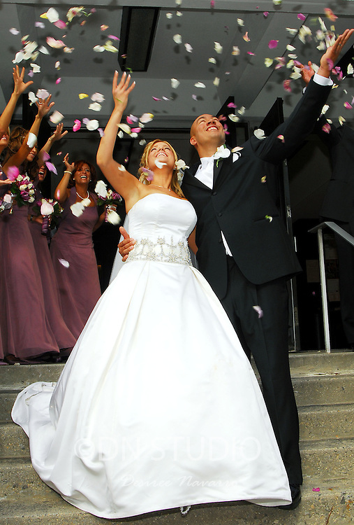 The wedding of Danielle Duby and Rafael Llamas at Holy Rosary Church in Bronx, New York on Sunday, May 20, 2007.