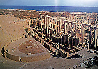 Italy: Rome--Leptis Magna, Theater, Sea. Ref. only