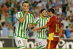 Kadir celebs his goal during the match between Real Betis and Recreativo de Huelva day 10 of the spanish Adelante League 2014-2015 014-2015 played at the Benito Villamarin stadium of Seville. (PHOTO: CARLOS BOUZA / BOUZA PRESS / ALTER PHOTOS)
