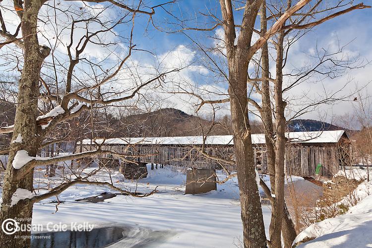The Scott covered bridge in Townshend, VT, USA