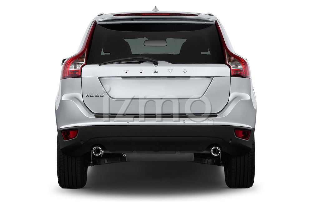 Straight rear view of a 2013 Volvo XC60