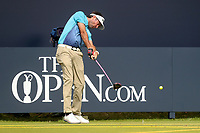 160719 | The 148th Open - Tuesday Practice<br /> <br /> Bubba Watson of USA on the first tee during practice for the 148th Open Championship at Royal Portrush Golf Club, County Antrim, Northern Ireland. Photo by John Dickson - DICKSONDIGITAL