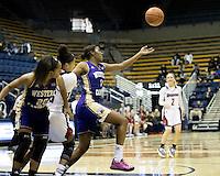 BERKELEY, CA - November 25, 2016: Duquesne Dukes and Western Carolina Catamounts at Haas Pavilion. Final score, Duquesne Dukes 65, Western Carolina Catamounts  50.