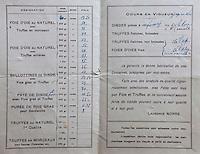 Europe/France/Aquitaine/24/Dordogne/Sorges: Musée de la Truffe, Sorges Extrait d'un dépliant publicitaire d'un conserveur d'Alvignac  dans le Lot _ Reproduction - Collection:  Musée de la Truffe, Sorges