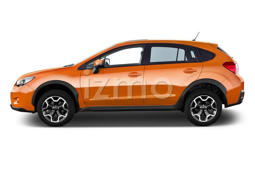 Car Driver side profile view of a 2015 Subaru XV-Crosstrek Premium 5 Door SUV Side View