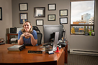 Evelyna Caldwell, BBA, Business Administration Accounting 2014, in the office at her business, Balanced CPAs LLC in Anchorage.