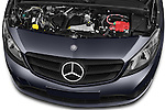 Car Stock 2015 Mercedes Benz Citan 109 Cdi 5 Places 5 Door Passenger Van Engine high angle detail view