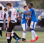 Joe Dodoo celebrates his goal with Barrie McKay