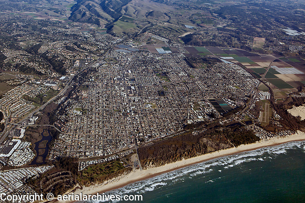 aerial photograph of Arroyo Grande and Oceano, San Luis Obispo County, California
