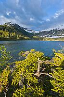 Upland lake near Cedar Bay, Prince William Sound, Chugach mountains, Alaska