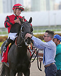 January 18, 2020: #1 Extravagant Kid with jockey Tyler Gaffalione on board wins the Sunshine Millions Sprint Stakes Black Type at Gulfstream Park in Hallandale Beach, Florida, on January 18th, 2020. LizLamont/Eclipse Sportswire/CSM