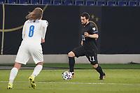 Amin Younes (Deutschland Germany) gegen Birkir Bjarnason (Island Iceland) - 25.03.2021: WM-Qualifikationsspiel Deutschland gegen Island, Schauinsland Arena Duisburg