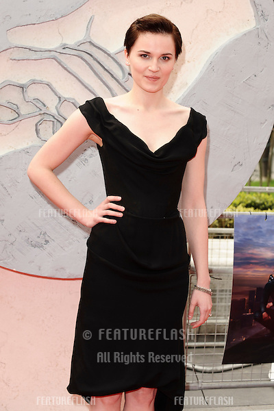 """Veronica Roth arrives for the """"Divergent"""" UK premiere at the Odeon Leicester Square, London. 30/03/2014 Picture by: Steve Vas / Featureflash"""