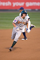 August 6, 2010: Boise Hawks' Elliot Soto (#1) makes the turn for third base during a Northwest League game against the Everett AquaSox at Everett Memorial Stadium in Everett, Washington.