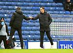26.12.2020 Rangers v Hibs: Steven Gerrard and Jack Ross
