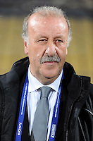 Spain manager Vicente Del Bosque. Spain defeated New Zealand 5-0 during the FIFA Conferderations Cups at Royal Bafokeng Stadium, in Rustenburg South Africa on June 14, 2009.