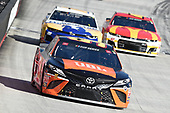 BRISTOL, TENNESSEE - MAY 31: Christopher Bell, driver of the #95 JBL Toyota, leads a pack of cars during the NASCAR Cup Series Food City presents the Supermarket Heroes 500 at Bristol Motor Speedway on May 31, 2020 in Bristol, Tennessee. (Photo by Jared C. Tilton/Getty Images)