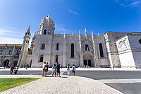 LISBON, PORTUGAL - June 4:  A general view of tourists taking pictures at the Monasterio dos Jeronimos in Lisbon, on June 4, 2021. <br /> Tourists anticipated trips from Lisbon to the U.K. They decided to return early so they wouldn't have to quarantine. since the new rules were announced for those traveling from Portugal to the UK. <br /> (Photo by Luis Boza/VIEWpress)