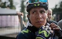Nairo Quintana (COL/Movistar) post-finish after finishing 4th<br /> <br /> 98th Milano - Torino 2017 (ITA) 186km