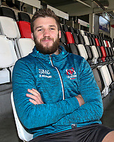 Tuesday 12th November 2019 | Ulster Rugby Match Briefing<br /> <br /> Stuart McCloskey at the Match Briefing held at Kingspan Stadium, Belfast ahead of the Heineken Champions Cup Round 1 clash against Bath at the Recreation Ground Bath on Saturday 16th November 2019.  Photo by John Dickson / DICKSONDIGITAL