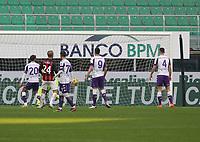 Milano  29-11-2020<br /> Stadio Giuseppe Meazza<br /> Campionato Serie A Tim 2020/21<br /> Milan - Fiorentina<br /> nella foto:     Alessio Romagnoli goal                     <br /> foto Antonio Saia Kines Milano