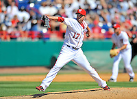 12 March 2011: Washington Nationals' pitcher Sean Burnett on the mound in relief at a Spring Training game against the New York Yankees at Space Coast Stadium in Viera, Florida. The Nationals edged out the Yankees 6-5 in Grapefruit League action. Mandatory Credit: Ed Wolfstein Photo
