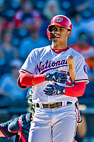 2 March 2019: Washington Nationals top prospect infielder Luis Garcia in action during a Spring Training game against the Minnesota Twins at the Ballpark of the Palm Beaches in West Palm Beach, Florida. The Nationals defeated the Twins 10-6 in Grapefruit League play. Mandatory Credit: Ed Wolfstein Photo *** RAW (NEF) Image File Available ***