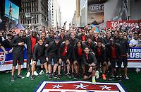 New York, NY - Friday, May 30, 2014: USMNT fan rally in New York City.