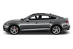 Car driver side profile view of a 2018 Audi S5 Sportback 3.0T Premium Plus quattro Tiptronic 5 Door Hatchback