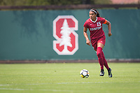 STANFORD, CA - September 3, 2017: Alana Cook at Cagan Stadium. Stanford defeated Navy 7-0.
