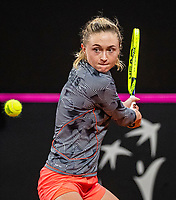 The Hague, The Netherlands, Februari 7, 2020,    Sportcampus, FedCup  Netherlands -  Balarus,  Aliaksandra Sasnovich (BLR)<br /> Photo: Tennisimages/Henk Koster