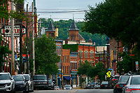 A view down Butler Street in the Lawrenceville neighborhood on Thursday May 28, 2020 in Pittsburgh, Pennsylvania. (Photo by Jared Wickerham/Pittsburgh City Paper)