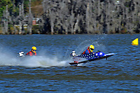 Frame 1: 1-US goes for a wild ride.   (outboard hydroplane)
