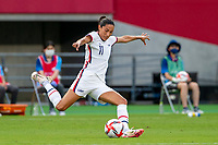 TOKYO, JAPAN - JULY 21: Christen Press #11 of the United States attacking during a game between Sweden and USWNT at Tokyo Stadium on July 21, 2021 in Tokyo, Japan.