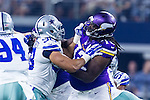 Dallas Cowboys and Minnesota Vikings in action during the pre-season game between the Minnesota Vikings and the Dallas Cowboys at the AT & T stadium in Arlington, Texas.