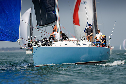 Corinne Migraine co-owns the successful J/133 Pintia with her father Gilles Fournier © Paul Wyeth/pwpictures.com
