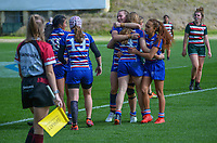 Action from the North Harbour girls secondary schools rugby final between Westlake Girls' High School and Rangitoto College at QBE Stadium in Albany, New Zealand on Sunday, 8 August 2021. Photo: Dave Lintott / lintottphoto.co.nz