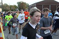 The Barnesville Pumpkin Festival 5K walk/run, September 29, 2012 at Barnesville Ohio.