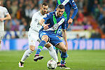 Real Madrid's Jese Rodriguez (l) and WfL Wolfsburg's Daniel Caligiuri during Champions League 2015/2016 Quarter-finals 2nd leg match. April 12,2016. (ALTERPHOTOS/Acero)