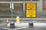 Silvertown London City Airport sign