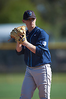 Villanova Wildcats starting pitcher Ryan Doty (37) gets ready to deliver a pitch during a game against the Dartmouth Big Green on February 27, 2016 at South Charlotte Regional Park in Punta Gorda, Florida.  Villanova defeated Dartmouth 14-1.  (Mike Janes/Four Seam Images)
