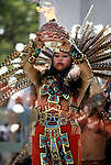 Aztec dance at festival at downtown Los Angeles, CA