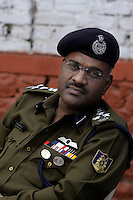 Deputy Inspector General of Police (Operations) MP Nathanael, leads the Central Reserve Police Force (CRPF) in and around Srinagar.  Srinagar, Kashmir, India. © Fredrik Naumann/Felix Features