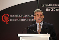 January 20,2014 -  Pierre Boivin, O.C., President & CEO of Claridge Inc.deliver a speech to the Canadian Club of Montreal.<br /><br />Photo (c) COPYRIGHT 2014, Pierre Roussel - Images Distribution