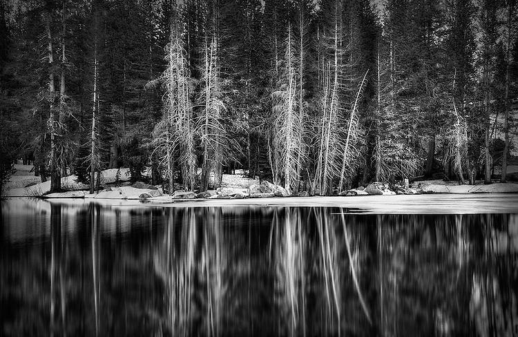 Gary Wagner Award Winning Photography, Winter Lake, Sierra Nevada Mountains