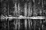 Gary Wagner Award Winning Photography, Winter Lake, Sierra Nevada Mountains